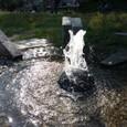 鴨川のほとりに噴水が・・・