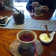 デザートはマンゴーヨーグルトと紅茶